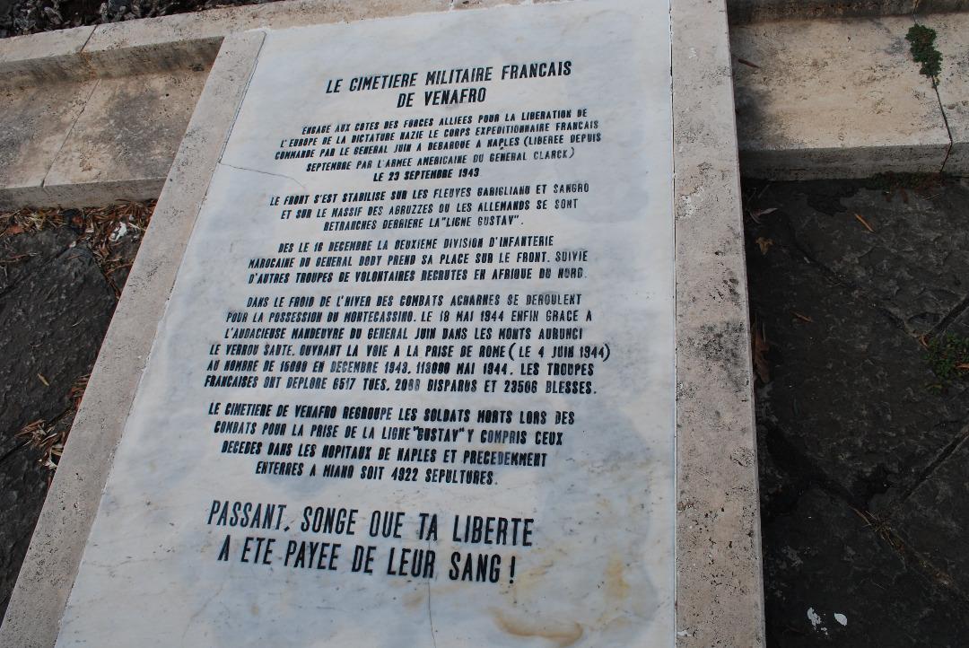 Le cimetière militaire français de Venafro en Italie.  8843?download=1